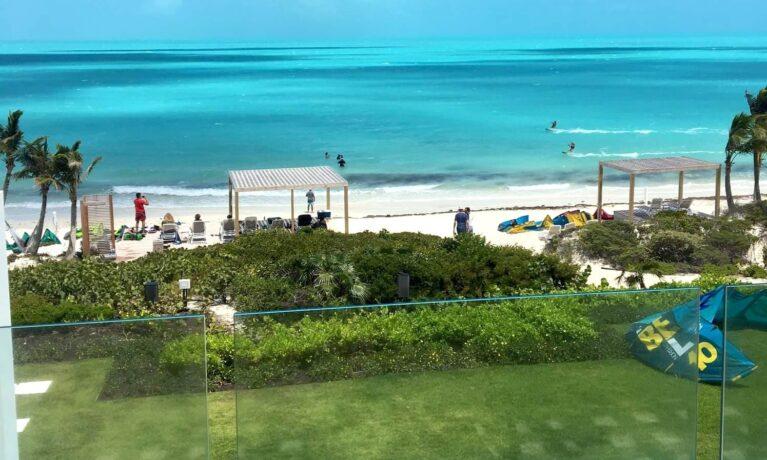 Strandutsikt från hotell