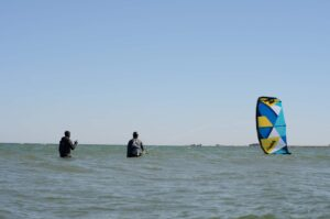 Kitelaunch i vatten