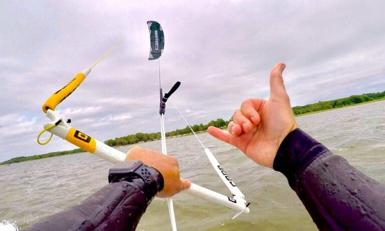 Blekinge kitesurf. Hang loose