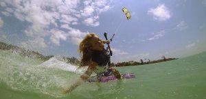 Kitesurf hand drag