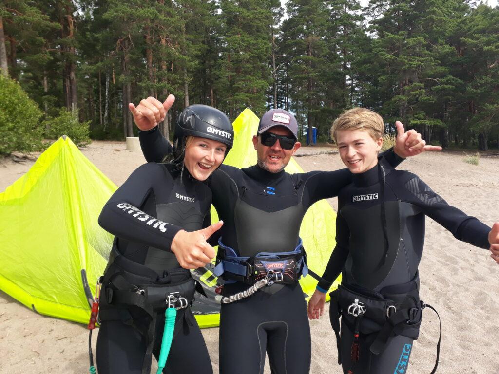 Young kitesurfers - kitesurf för ungdomar