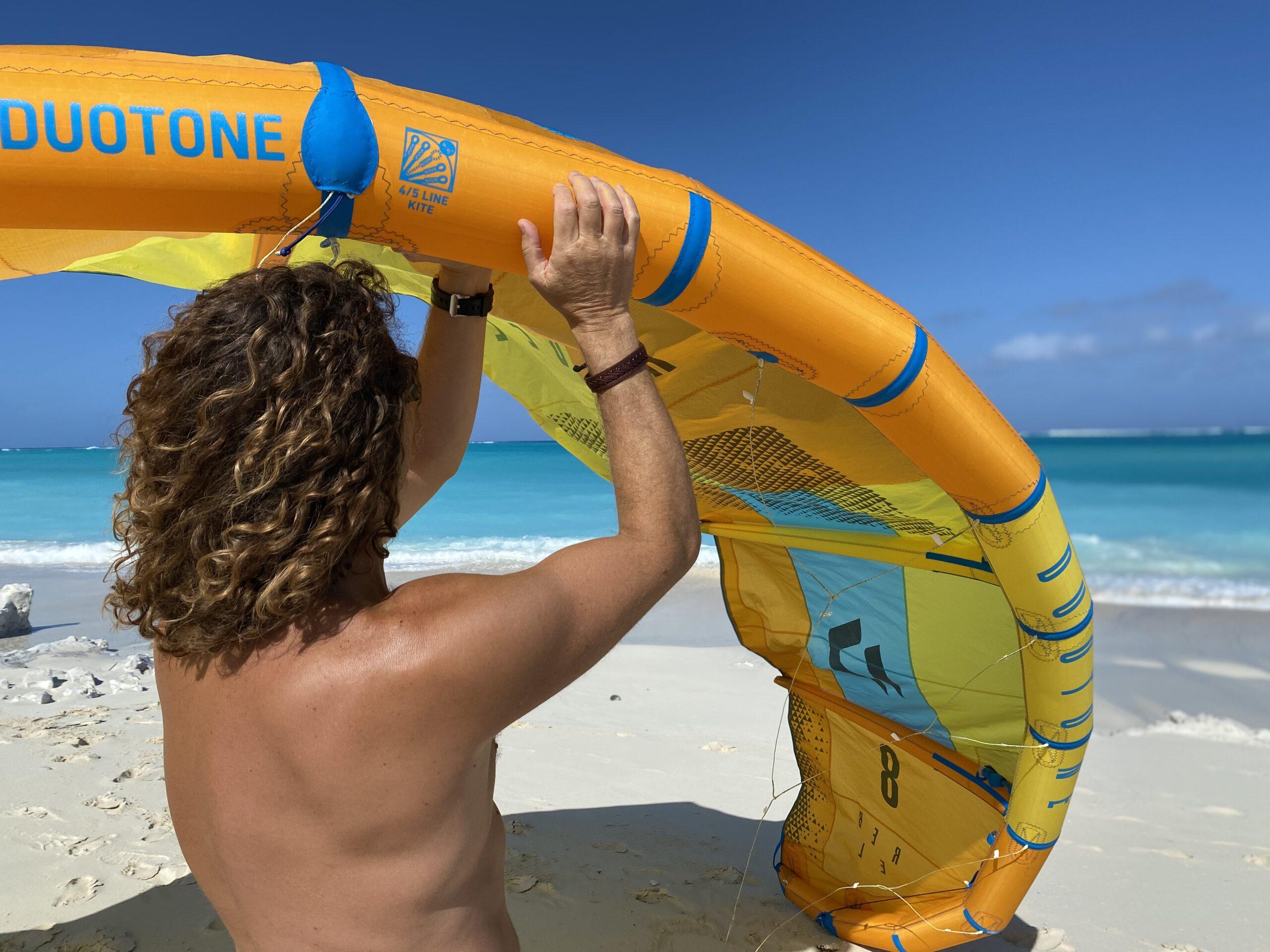 Kitekursen innefattar säker hantering av kiteutrustning