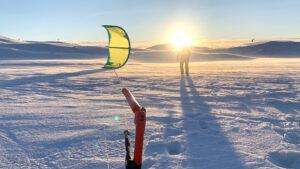 Snowkite kurs kiteskola Tänndalen