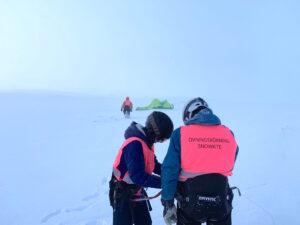 Snowkite kurs vinter i Tänndalen