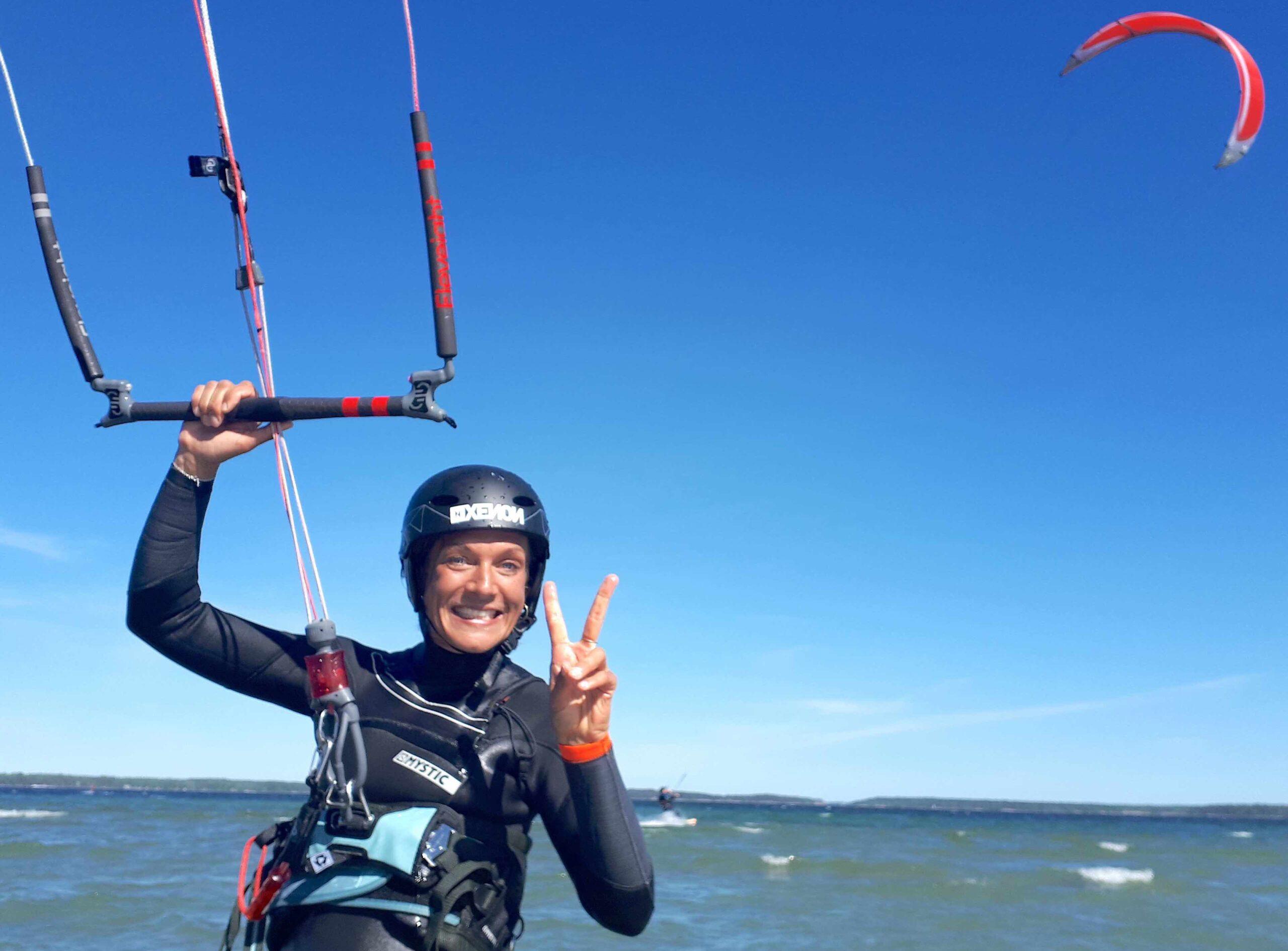 Have fun kitesurfing